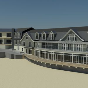 South Sands Hotel 3D image from the beach